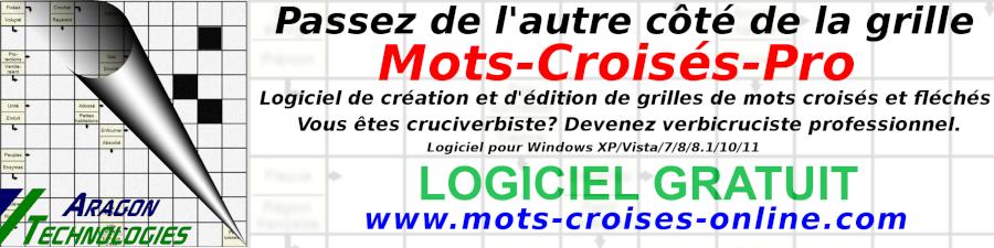 Mots Croisés Pro logiciel générateur de grilles de mots croisés et fléchés