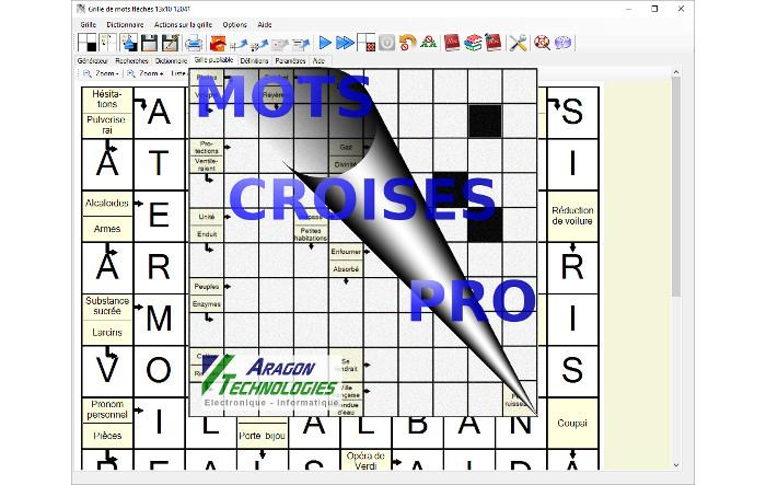 Mots croise pro logiciel de cr ation et d 39 dition de - Construire une grille de mots croises ...